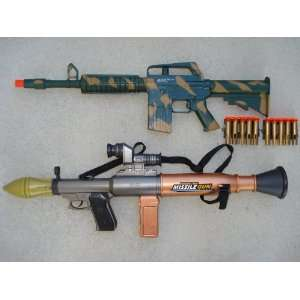 1 AR15 Dart Gun Rifle + 1 Bazooka Missile Machine Gun on PopScreen