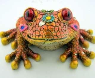 New Unique Home Decorative Orange Frog Mosaic Mirror Figurine
