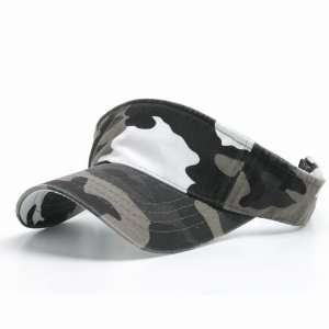 BIO WASHED CAMOUFLAGE SPORTS VISOR GRAY HAT CAP HATS Everything Else
