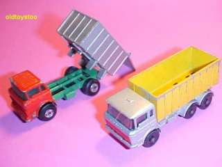 1970   Two 2 DUMP TRUCKS GMC & DAF MATCHBOX # 26 & 47
