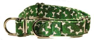 Green Bones Martingale Pet Dog Collar