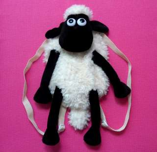 New RARE Shaun The Sheep Plush Doll Backpack 18