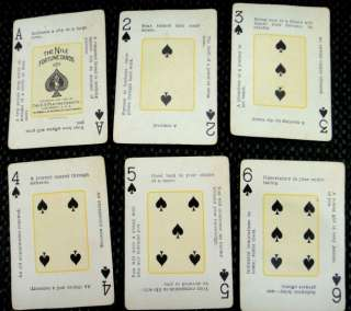 1904 antique 68X NILE FORTUNE TELLING CARDS playing ci