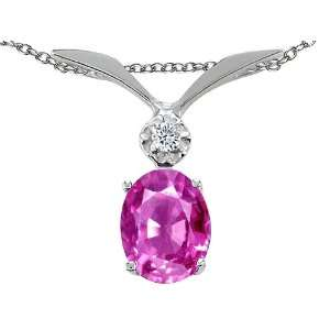 1.52 cttw Tommaso Design(tm) Lab Created Pink Sapphire and