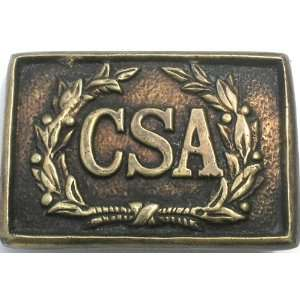 Brass CSA Confederate Wreath Civil War Belt Buckle