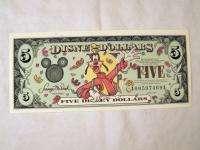 2000 Disney $5 Goofy Disney Dollar #A00597469A MINT