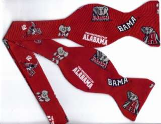 SELF TIE BOW TIE ALABAMA BAMA CRIMSON TIDE (ICONS)