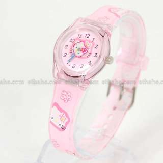 Hello Kitty Cute Wrist Watch Wristwatch Band Pink 28P1