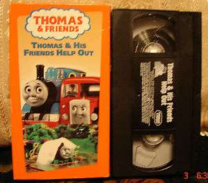 Thomas & HIS FRIENDS HELP OUT the Tank Engine Train Vhs RARE HTF OOP