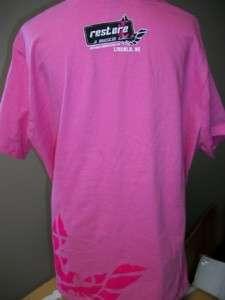Womens Restore a Muscle Car T Shirt PINK