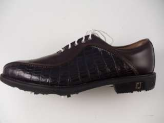 Footjoy Myjoys Icon Golf Shoes 52180 Brown Black Lizard Print 12