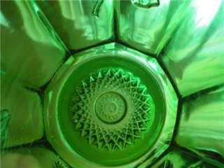 Antique EAPG Northwood Emerald Green GOLD ROSE Spooner