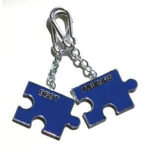 Blue Bff, Best Friends Forever, 2 Pack Bag Clip Charms
