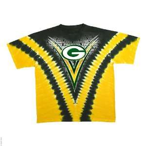 Green Bay Packers Logo V Tie Dye T shirt: Sports & Outdoors