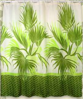 Palm Tree Hawaiian Quilt Print Bathroom Fabric Shower Curtain