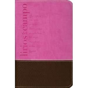 : Pink & Chocolate Matthew 6:28 Spanish Bible Cover: Everything Else