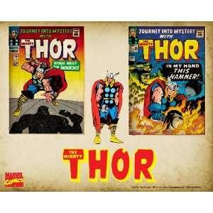 Marvel Comics Retro Thor Comic Book Covers , 8 x 10