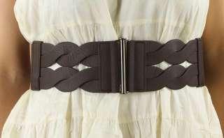 Womens Stylish Vintage Twisted Elastic Stretch High Waisted Belt Bar