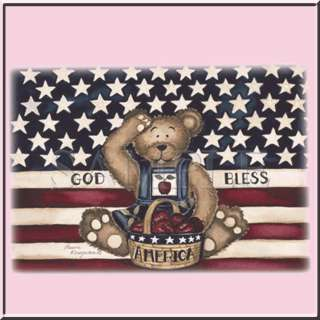 Salute God Bless America USA US Flag Teddy Bear S 4X,5X