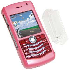 High Quality Amzer Polished Pink Snap On Crystal Hard Case For