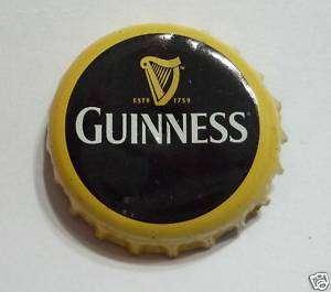 GUINNESS STOUT BEER Bottle Cap Crown Black Gold Harp