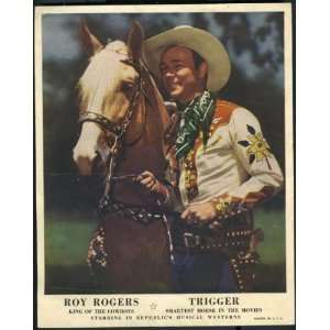 Vintage Roy Rogers Theater PlayBill Promotional Handout