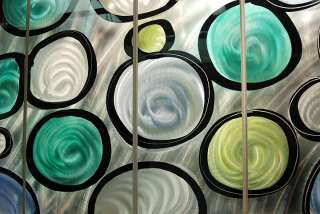 Hand Painted Modern Abstract Office Metal Wall Art SculptureCircles