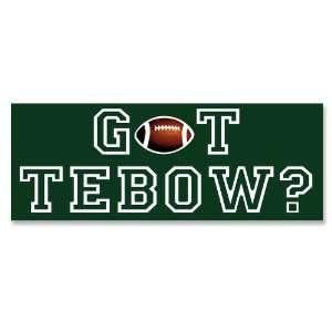 Got Tebow   New York Jets Green   Bumper Sticker