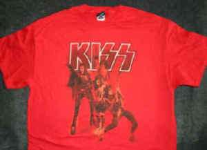 KISS Rock The Nation T Shirt Size Large  Gene Simmons