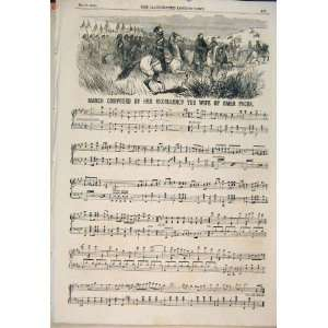 Song Music Score Sheet Omer Pacha Composed Print 1854