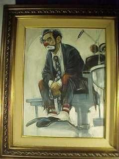 Robert Owen 24 x 18 Original Oil Clown Painting Dentist