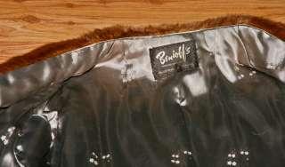 Vintage Light Brown Mink Fur Coat Full Lenght Benioffs Mint
