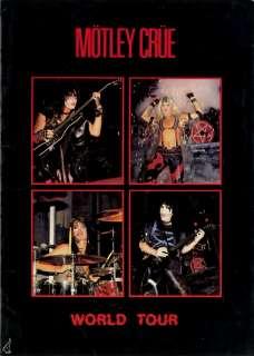 MOTLEY CRUE 1984 SHOUT AT THE DEVIL TOUR PROGRAM BOOK