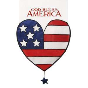 Garden Flag God Bless America Large Heart Shaped Flag