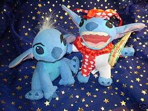 Lot of 2 Plush Disney Lilo 7 Stitch Dog & Clown Suit