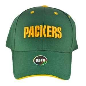 NFL GREEN BAY PACKERS YELLOW FLEX FIT HAT CAP OSFA NEW