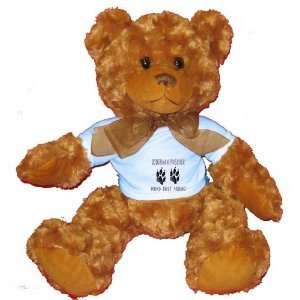 DOBERMAN PINSCHER MANS BEST FRIEND Plush Teddy Bear with BLUE