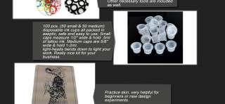 complete SKULL 2 Tattoo Gun Kit 10 Wrap Machine Power Supply Ink Set