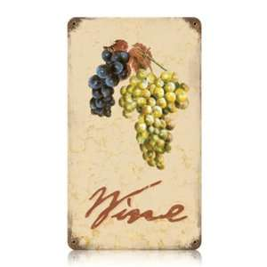 Vintage Style Wine Metal Sign