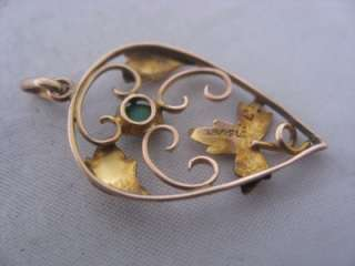 ANTIQUE VICTORIAN 9ct ROSE GOLD & TURQUOISE PENDANT