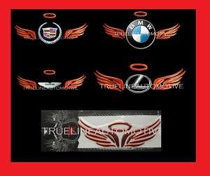 BUICK 3D Red Angel Wing Decal Sticker Logo Trim