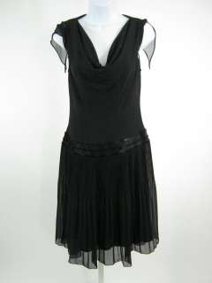 BICE Black Chiffon Beaded Dress Sz 6