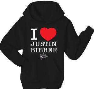 Love (heart) Justin Bieber Hoodie Hoody Top   All Sizes and Colours