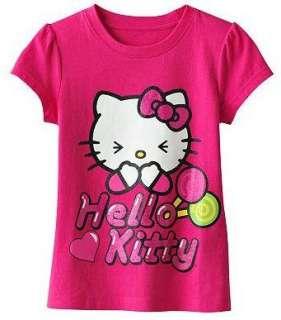 Hello Kitty Shirt Top Tee LOLLIPOP Size 4 5 6