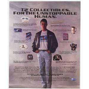 1991 T2 Terminator 2 Movie Collectibles Print Ad (Movie