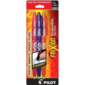 Frixion Pen Asst 3 Pack   Pink, Purple and Orange Arts