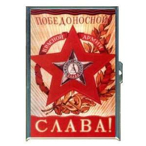 TRIUMPHANT RED ARMY RUSSIAN WWII ID Holder, Cigarette Case