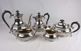 Birks Sterling Silver 5 Piece Coffee and Tea Serving Set. All pieces