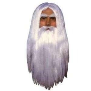 Merlin White Long Wig Toys & Games