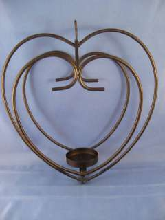 Wrought Iron Heart Tea Light Candle Holder Lantern NICE